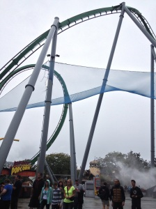 The Hulk roller coaster at Universal - with 7 inversions. Yes, I rode this.